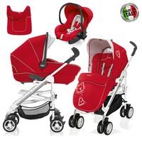 Brevi Millestrade Mod System 3 Lü Bebek Arabası Red