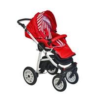 Pajero Alu Bebek Arabası Spor Koltuk Kırmızı Zebra 02P