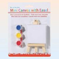 Out Of The Blue Mini Canvas With Easel - Küçük Ressam Boyama Takimi - Mini Ressam Sehpasi Ve Mini Tuval