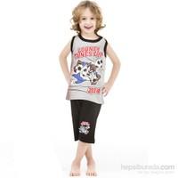 Roly Poly 3024 Tazmanya Lisanslı Erkek Çocuk Pijama Takımı Gri 3 Yaş (98 Cm)