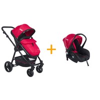 Kanz KZ-4010 Cameron Seyahat Sistem Bebek Arabası / Kırmızı