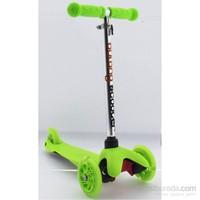 Bulong 3 Teker Işıklı Scooter Yeşil Küçük Mıcro Style