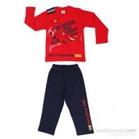 Roly Poly 2505 İnterlok Erkek Çocuk Pijama Takımı Kırmızı 1 Yaş (86 Cm)