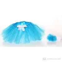 Baby Corner Bağlama Tütü Etek & Saç Bandı Saks Mavi