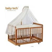 Baby Tech 182 Kral Doğal 70X130 Beşik