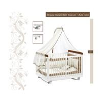 Baby Tech 162 Beyaz Kelebekler 60X120 Beşik