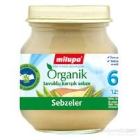 Milupa Organik Tavuklu Karışık Sebze Püreli Kavanoz Maması 125 gr