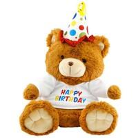 Neco Plush Oturan Happy Birthday Peluş Ayı 40 cm