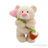 Neco Plush Kalpli Çiçekli Ayı 40 Cm