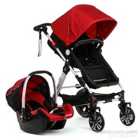 Wellgro Preleo Seyahat Sistem Bebek Arabası / Kırmızı