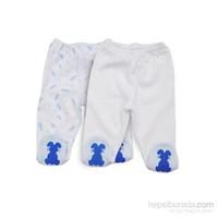 Baby Corner 2'Li Patikli Alt / Havuç / Beyaz Mavi