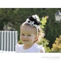 Baby Corner Kız Çocuk Saç Bandı Gül / Siyah Beyaz
