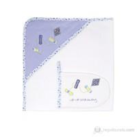 Slumber Başlıklı ve Keseli Banyo Havlusu Blue Kite 75*75cm