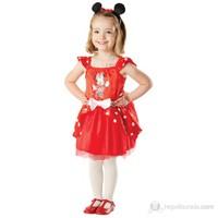 Minnie Kırmızı Balerin Çocuk Kostüm 2-3 Yaş