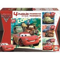 Educa Karton Puzzle 12+16+20+25 Parça Progressive Cars 2 14942
