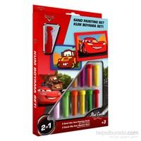 Red Castle Disney İkili Kum Boyama Seti Cars Lightning Mcquenn Ve Mater