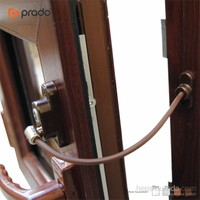 Penkid Anahtarlı Pvc Pencere Emniyet Kilidi (5 Adet) / Koyu Kahve
