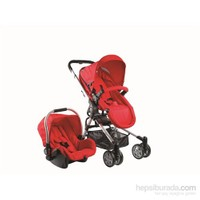 Drago Baby BTS -510 Seyahat Sistem Bebek Arabası / Kırmızı