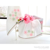 İrya Floralis Nakışlı Havlu Seti Ekru 2 li Set