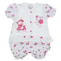 Modakids Kız Bebek Kısa Kol Fırfırlı Tulum 019 - 439 - 027