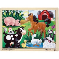 Melissa&Doug Ahşap 12 Parça Yapboz - Çiftlik Hayvanları