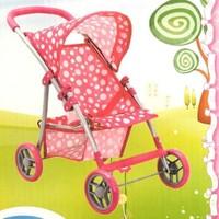 Sunman Oyuncak Bebek Arabası 4 Tekerli Puset Puantiyeli