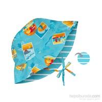 İ Play Upf 50+ Güneş Korumalı Çift Yönlü Bucket Bebek Şapka Turkuaz