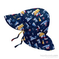 İ Play Upf 50+ Güneş Korumalı Fun Flap Bebek Şapka Lacivert