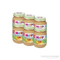 Hipp Organik Şeftalili Muz Püreli Kavanoz Maması 125 gr - 6'lı