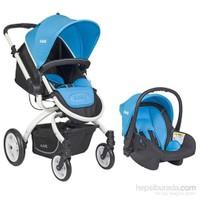 Kanz Kz4006 Bavyera Travel Sistem Bebek Arabası Mavi