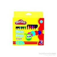 Play-Doh 6 Renk Naturel Crayon 2Si 1 Arada