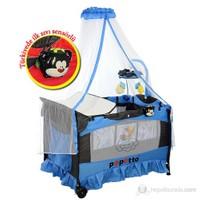 Papetto OP05-76 Oyun Parkı ( Cibinlik & Mp3 Çalar Özelliği & Sıvı Sensörlü ) - 76x110 Cm / Mavi