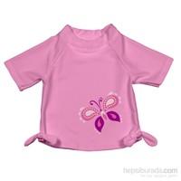 iplay 50 Faktör Korumalı, Kısa Kollu T-Shirt / Pink Butterfly