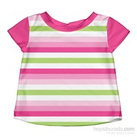 İ Play Upf 50+ Güneş Korumalı Kısa Kollu Bebek Deniz T-Shirt Pembe