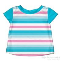 İ Play Upf 50+ Güneş Korumalı Kısa Kollu Bebek Deniz T-Shirt Turkuaz