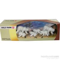 Cc Oyuncak Wild Park Kutuda Altı Parça Kutup Ayısı Ailesi