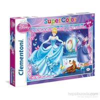 Clementoni 104 Parça Cinderella Supercolor Çocuk Yapboz