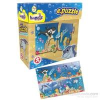 Kırkpabuç 22 Parça Deniz Canlıları Eğitici Puzzle