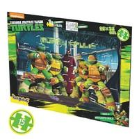 Kırkpabuç Boyamalı Puzzle - Ninja Turtles