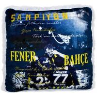 Fenerbahçe Lisanslı Şampiyon Peluş Kare Yastık