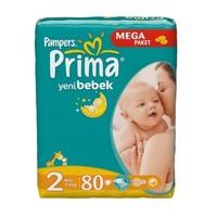 Prima Bebek Bezi Aktif Bebek Jumbo Mini Paket 80'Li 3-6 Kg