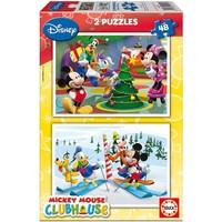 Educa Çocuk Puzzle Karton 2X48 Mickey Mouse Club House
