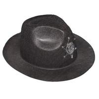 Pandoli Siyah Renk Çocuk Boy Kovboy Şapkası