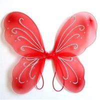 Pandoli Kırmızı Renk Kelebek Parti Kanadı 50 Cm