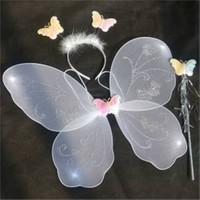 Pandoli Beyaz Kelebek Kanat Set 40 Cm Kanat Asa Taç