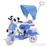 Baby Poufi Sevimli Panda Mavi