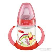 Nuk Disney Winnie FC Learner Silikon Ağızlıklı Biberon 150 ml / Kırmızı
