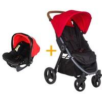 Soo Baby Explora Seyahat Sistem Bebek Arabası / Kırmızı