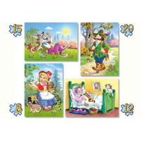 Castorland 4 Lü Puzzle Kırmızı Başlıklı Kız