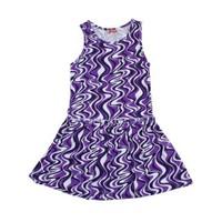 Zeyland Kız Çocuk Mor Dalga Elbise K-41Kl544836